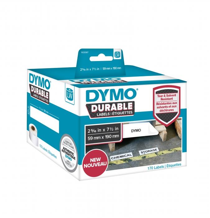 Etichete DYMO Durable LabelWriter din plastic alb, (dimensiuni 59 mm x 190 mm) 170buc/rola-big