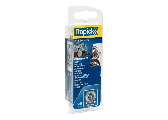 Saibe Rapid pentru ocheti  diametru 10 x 21 mm, aluminiu, sitem fixare inclus, 25 buc/ blister-big