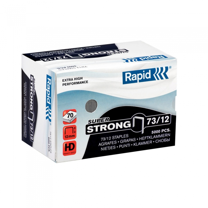 Heavy duty Rapid 73/12 staple  5 000 pcs/box SUPER STRONG-big