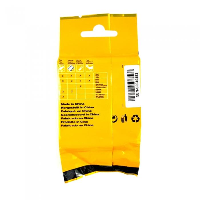 Etichete tub termocontractibil compatibile, DYMO ID1, 12mm x 1.5m, negru/alb, 18055 18055-C-big