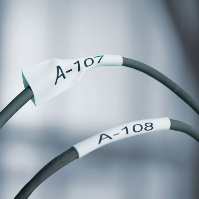 Etichete tub termocontractibil compatibile, DYMO ID1, 12mm x 1.5m, negru/alb, 18055 S0718300-C-big