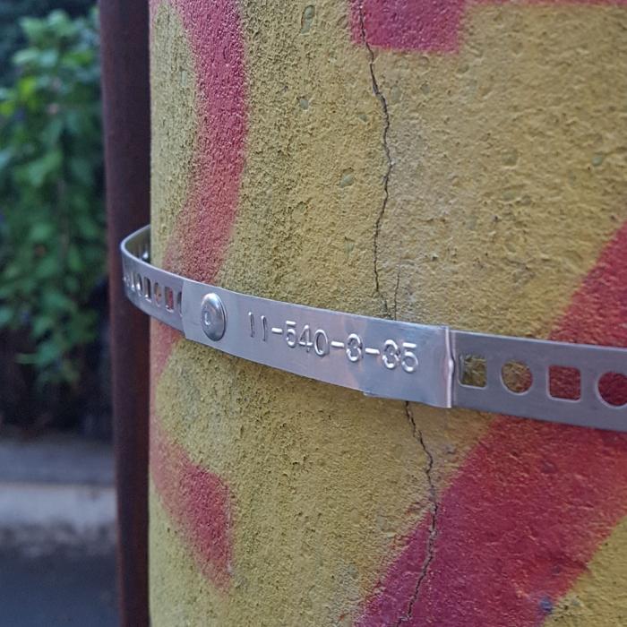 Etichete metalice embosabile industriale DYMO, 12mmx6,4m, otel inoxidabil, 32500 SD301241-big