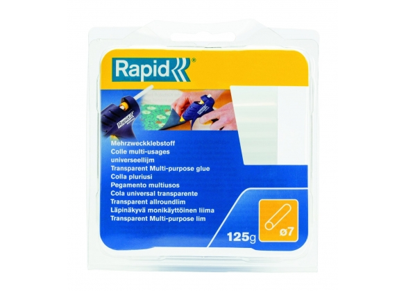 Batoane lipici Rapid Fun to Fix cu diametrul de 7mm x 65mm, universal, 125g, blister-big
