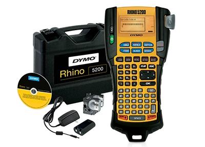 Aparat de etichetat Dymo Rhino 5200 KIT si 4 x banda vinil ( DY18443, DY18444, DY18445)-big