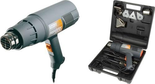Pistol aer cald Regulator 2000 W, 500l/min, 60/600ᄚC Kit cu raclete vopsea si 4 capete-big