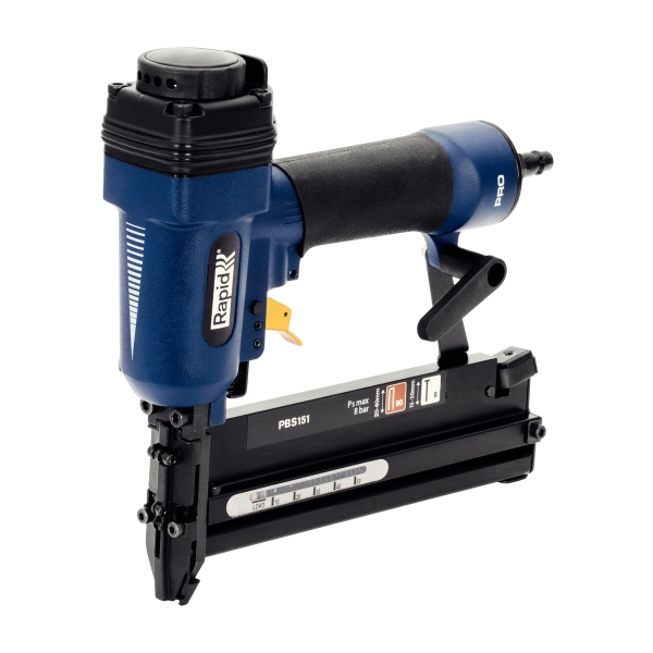 Pistol de batut cuie si capse in banda Rapid PBS151, pneumatic, 8/15-50mm, 90/20-40mm, Kit-big