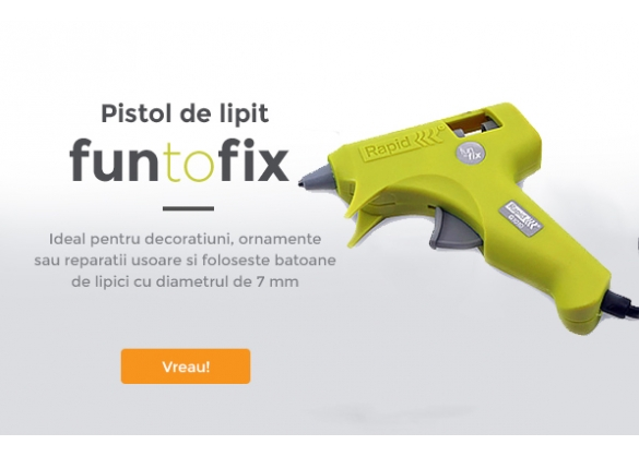 Pistol de lipit Rapid Fun to Fix G1010, 20W, 100g/h, diametrul de 7mm-big