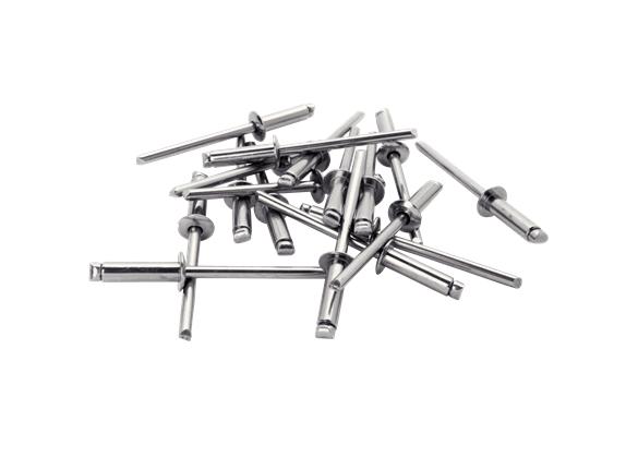 Popnituri Rapid cu cap larg, Ø4.8X18mm, aluminiu, burghiu inclus, 40 buc/ blister-big
