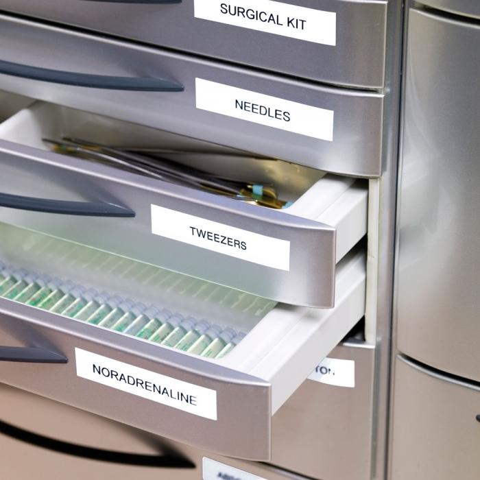 Aparat de etichetat profesional DYMO LabelManager 160P si o caseta etichete profesionale, 9mmx7m, negru/alb, DY946320 S0946320-big