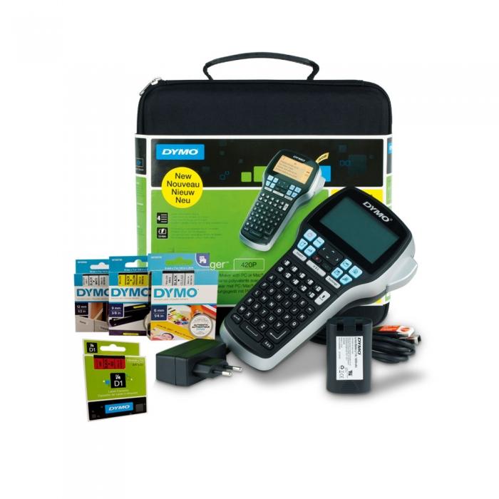 Aparat etichetat (imprimanta etichete) DYMO LabelManager 420 kit cu servieta, conectare la PC S0915480 915480-big