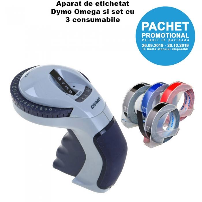 Aparat etichetat Dymo Omega si 4 role etichete Dymo Omega, DY12748 S0717930 DY847750 DY847750 DY847750-big