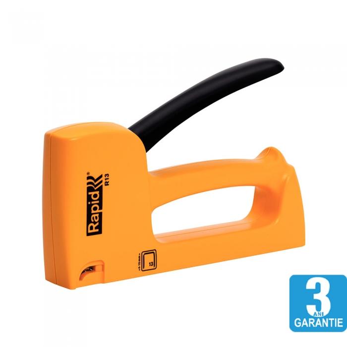 Capsator tacker Rapid R13E, ergonomic, capse 13/4-10 mm, 3 ani garantie, fabricat in Suedia 20443901-big