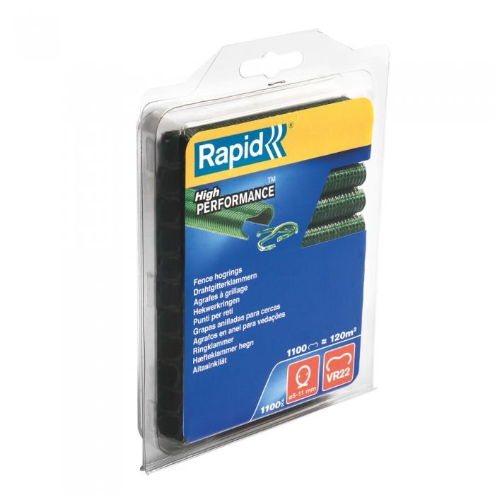 Capse gard Rapid HOG VR22, 5-11 mm, plastifiate verde, 1100 buc/blister-big
