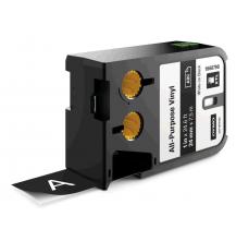 Etichete Dymo XTL vinil  24 mm x 7 m, alb/negru