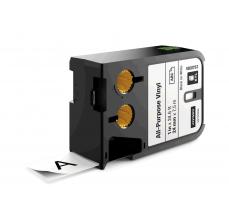 Etichete Dymo XTL vinil  24 mm x 7 m, negru/alb